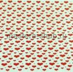 Фетр с сердечками. Крупные красные на белом
