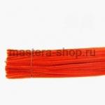 Пушистая проволока шенил (синель)  Оранжевая яркая