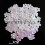 Пайетки цветок 13 мм перламутровый пятилепестковый Белый - 80шт
