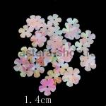 Пайетки цветок 13 мм перламутровый пятилепестковый Розовый - 90ш
