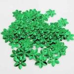 Пайетки цветок 13 мм шестилепестковый Зеленый - 120шт.