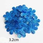 Пайетки цветок 32 мм голографик шестилепестковый Синий - 1ш