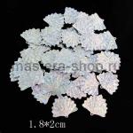 Пайетки ракушка 18*20 мм голографик Серебро- 1шт