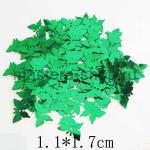 Пайетки бабочка 11*17 мм Зеленая - 1шт