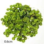 Пайетки круглые 6 мм Зеленые светлые - 10 гр.