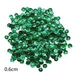 Пайетки круглые 6 мм голографик Зеленые - 10 гр.