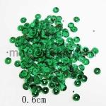 Пайетки круглые 6 мм Зеленые - 10 гр.