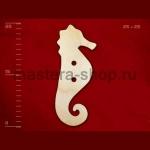 Пуговица деревянная Морской конек