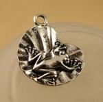 Серебряная подвеска Лягушка