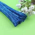 Блестящая проволока шенил (синель) Синяя
