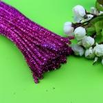 Блестящая проволока шенил (синель) Фиолетовая темная