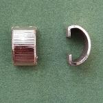 Полукольцо для банта широкое пластик 1 шт.