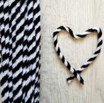 Проволока шенил (синель) двойная Черно-белая