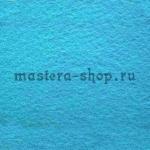 Фетр листовой. 2 мм. Голубой