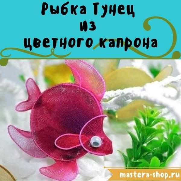 Мастер-класс: Игрушка  из  цветного капрона Рыбка Тунец